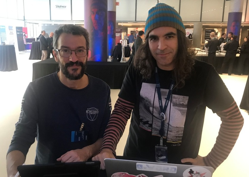 Pablo Aragón y Chema Alonso en el Security Innovation Day 2019
