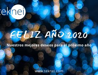 felicitación teknei feliz año 2020