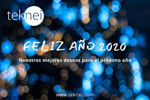 creatividad feliz año 2020 teknei