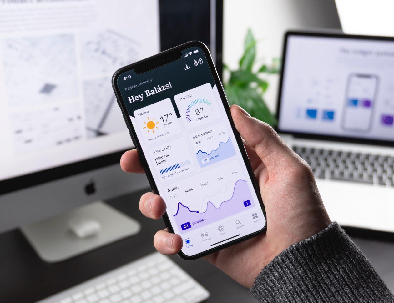 móvil con aplicación de gestión eficiente de la información