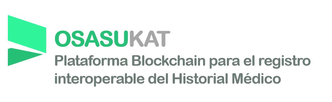 Logotipo de Osabukat. Plataforma de blockchain para el registro interoperable del historial médico