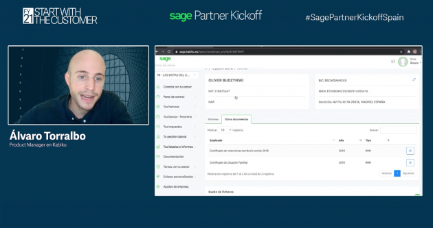 Captura de pantalla del Webinar de Sage