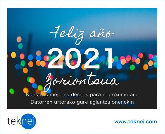Felicitación de Navidad de Teknei 2021. Versión euskera