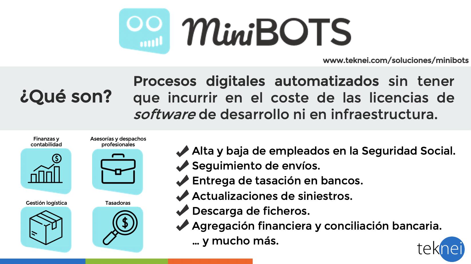 Infografía de la solución RPA Minibots