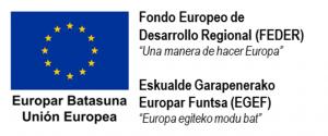 Logotipo Fondo Europeo de Desarrollo Regional (FEDER).