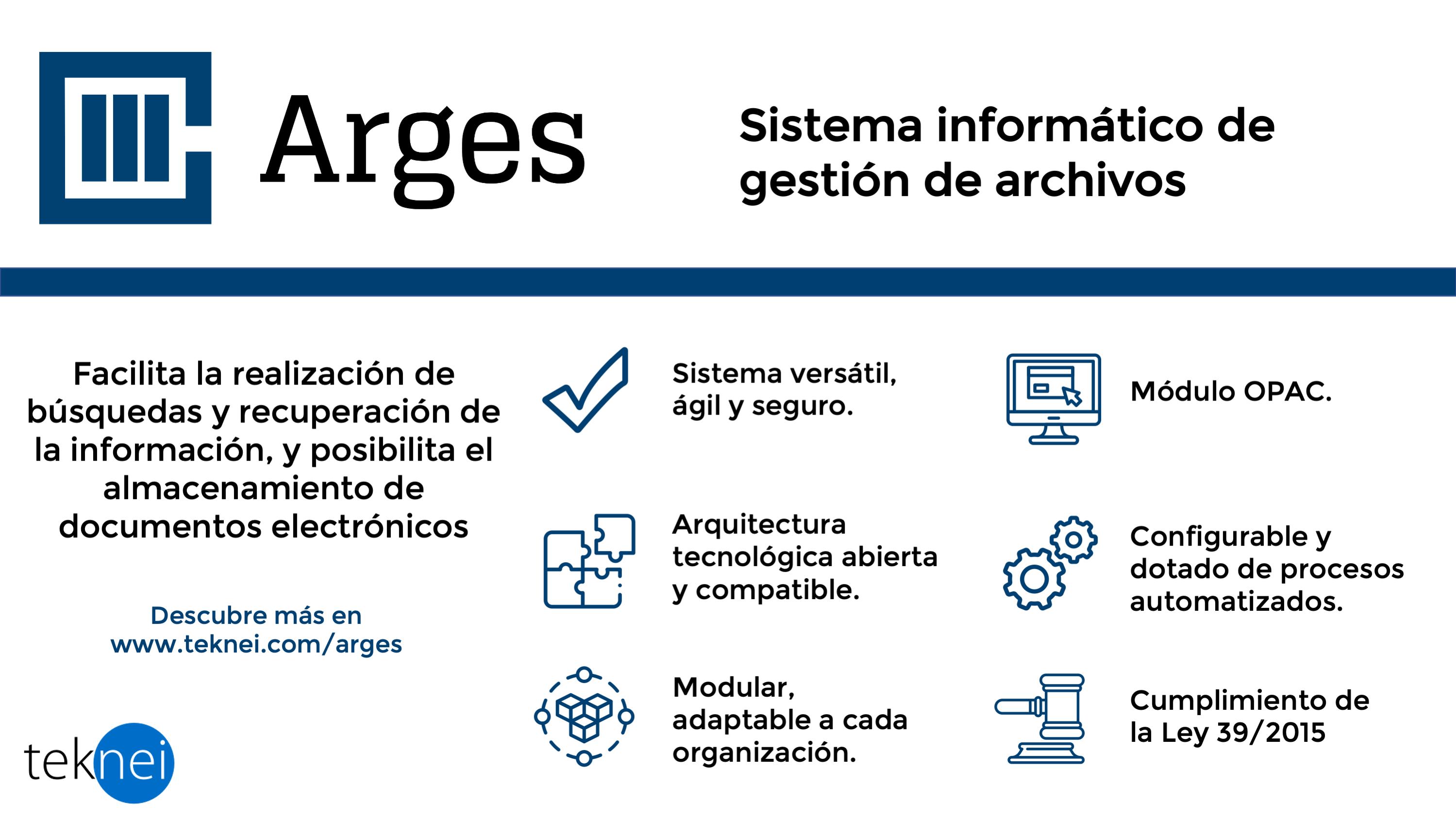 Infografía de Arges, tecnología ECM para la gestión documental.